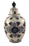 Deckelvase Delfter Keramik